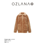【中国仓】OZLANA  皮草大衣AU203001  INFLUENCE TEDDY JACKET  短版泰迪服