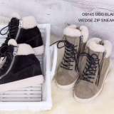 【澳洲仓】OZWEAR UGG OB145 UGG ELAINE WEDGE ZIP SNEAKERS