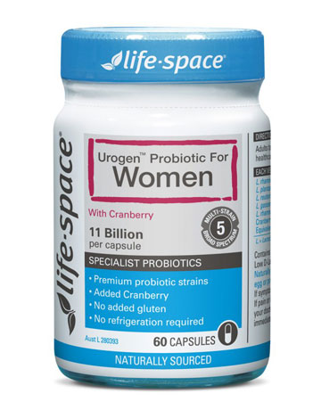 【澳洲仓】Life Space LS Urogen Probiotic Women 女性蔓越莓泌尿系统益生菌(蔓越莓)60粒(玻璃瓶)